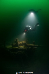 The wreck is located in the lake Vättern in Sweden at 32m... by Erik Rådström