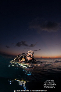 While swimming out for a shore dive at sunset, I asked my... by Susannah H. Snowden-Smith