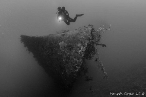 Wreck and Diver by Henrik Gram Rasmussen