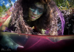 Dark Water Mermaid - Sea Nettle  Event: Dark Water - Lad... by Steven Miller