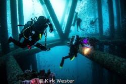 Long Beach oil rigs, California. by Kirk Wester