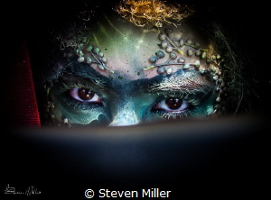 Color Texture Light, and Shadow. Dark Water Mermaid - Sea... by Steven Miller