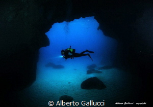 In the cave by Alberto Gallucci
