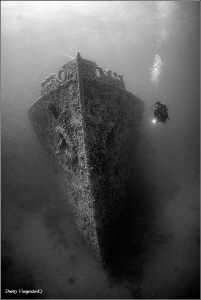 1941 Red Sea. Thr Gulf of Suez. SS Turkia. by Dmitry Vinogradov