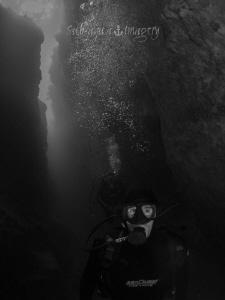 Through the Canyons - Kingkong Blue Hole Andros, The Bah... by Jan Morton