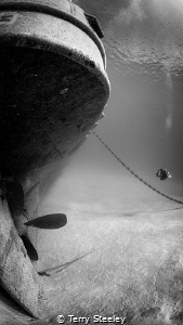Stern of the USS Kittiwake — Subal housing, Canon 5Dmk2,... by Terry Steeley