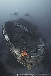 Safary boat wreck by Oxana Kamenskaya