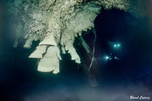 Over a sulfur layer - 30m deep by Raoul Caprez