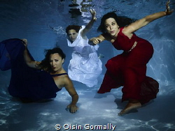Three Dresses Swimming Pool Shoot in private pool Fouras... by Oisin Gormally