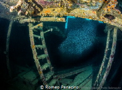 'Inside The Debbie' The Debbie shipwreck, Blue Reef, Aruba by Romeo Penacino
