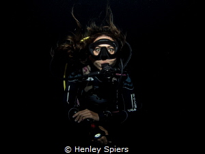 Jade on a Night Dive by Henley Spiers