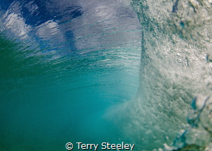 Inside the pipe, Hawaii by Terry Steeley