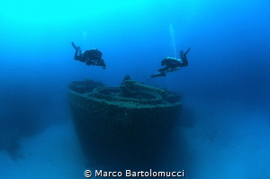 LST 349 Wreck - Ponza Islan Italy by Marco Bartolomucci