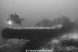 stuka bomber wreck - WWII by Claudia Weber-Gebert