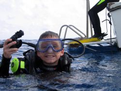 New Diver, My son 's first trip 10 years old, housed Cann... by Steven Whitehead