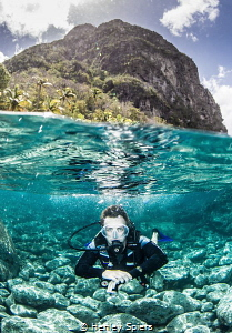 Conquering the Petit Piton - This week we dived its base ... by Henley Spiers