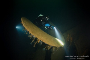 Oldenburg WW2 wreck. picturer is taken on depth 65 meter by Rene B. Andersen
