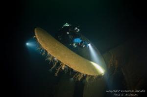 Oldenburg WW2 wreck. picturer is taken on depth 65 meter by Rene B. Andersen