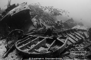 Oro Verde shipwreck Grand Cayman Canon 40D in Sea & Sea... by Susannah H. Snowden-Smith