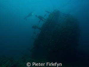Umbria wreck near the port of Sudan by Pieter Firlefyn