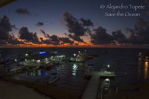 Sunrise in San pedro, Belize by Alejandro Topete