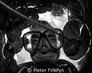 selfie in the pond by Pieter Firlefyn
