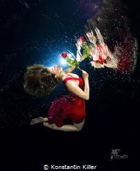 Underwater Model Photography UW model Nadine Werner Pho... by Konstantin Killer