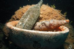 Still life from the Heian Maru after 65 years on the bott... by Ron Johnson
