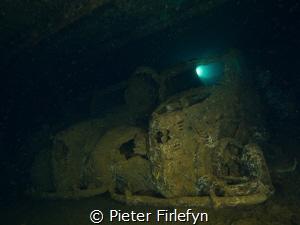 Umbria shipwreck, Military cars, Sudan by Pieter Firlefyn