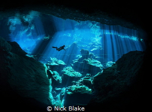 'Out of the Blue' Riviera Maya, Mexico. by Nick Blake