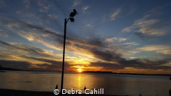 Sunset over the sea Port Stevens New South Wales by Debra Cahill