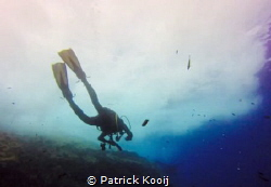 Man in the water by Patrick Kooij
