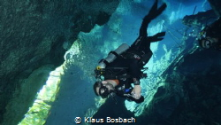 Cenote Chac Mool Photo by Klaus Bosbach from Playa Scuba ... by Klaus Bosbach