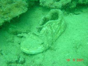 Shoe Wreck @ Pulau Bintan, Indonesia. Taken with Sony's D... by Barbara PHUA Pay Lee