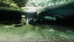 underwater cave light by Antonio Venturelli