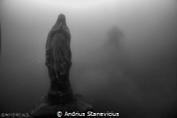 A small statule of St Maria been set up for diverwho died... by Andrius Stanevicius