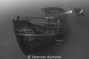 'Out of the mist' Diver explores wreckage at inland fresh... by Spencer Burrows