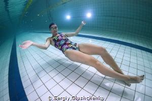 Swimmer-freediver by Sergiy Glushchenko