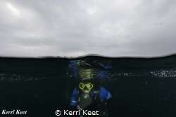 Submerging - the boundary between the surface and the deep by Kerri Keet