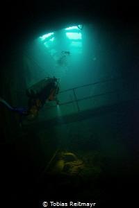 Inside Kensho Maru, Chuuk by Tobias Reitmayr