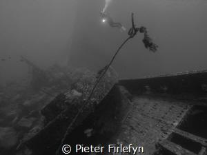 Lanzarote wreck by Pieter Firlefyn