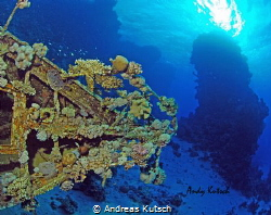 small wreck in the red sea by Andreas Kutsch