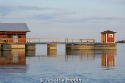A lovely springevening by the boathouse at the Swedish co... by Jessica Sjödin