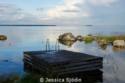 The magic view from a restaurant at the swedish eastcoast. by Jessica Sjödin
