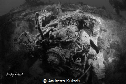 Engine of a wreck in the adriatic by Andreas Kutsch