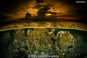 sgolden time, sunset in Lissenung island by Massimo Giorgetta