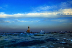 lighthouse Location :Red Sea Daedalus Reef Egypt Canon ... by Yung Sen Wu