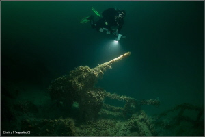 "42 meters  Black Sea. Russia. Cargo ship ""Chervonyi Coss... by Dmitry Vinogradov"