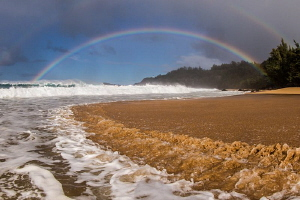 Bend and Bow: Secret Beach, Kauai, Hawaii by Tony Cherbas