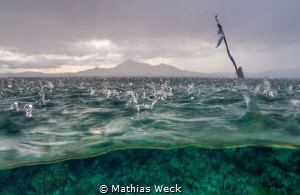 Tropical rain at Bunaken Island by Mathias Weck